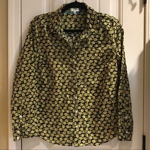 Crown & Ivy button down top fish print